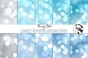 Seamless Winter Wonderland Bokehs