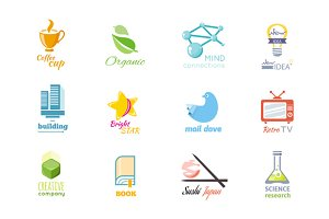 Set of Logo Design Flat Icon