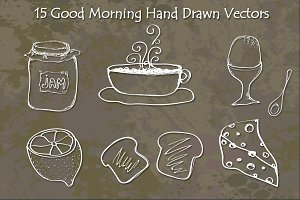 Good Morning Hand Drawn Vectors