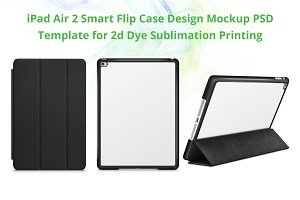 iPad Air 2 Smart Flip Case Mockup