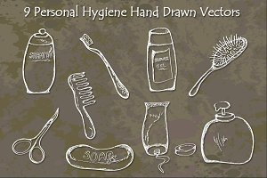 Personal Hygiene Bathroom Vectors