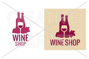 Logotype wine shop