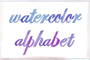 Watercolor Alphabet, Painted Letters
