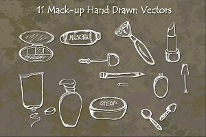Make Up Hand Drawn Vectors