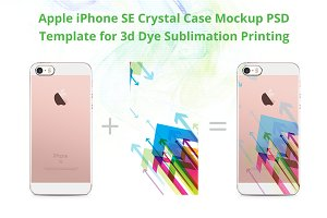 iPhone SE 3d Crystal Case Mockup