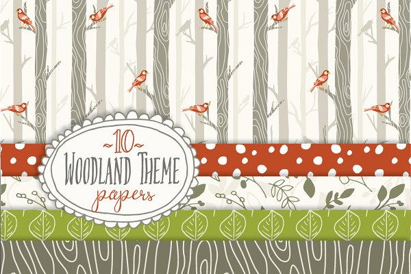 Woodland - Seamless Pattern Papers