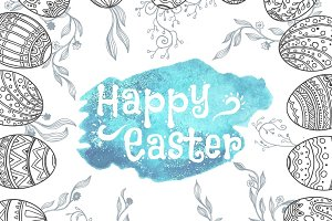Set of Easter illustrations
