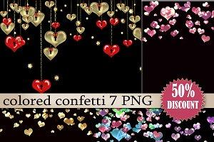 SALE Clipart Color confetti Heart