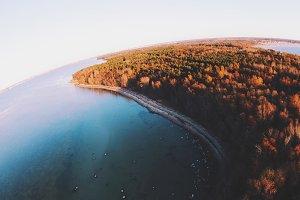 Aerial sea photo
