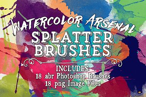 Water Color Arsenal Splatter Brushes