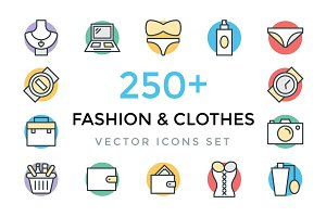 250+ Fashion and Clothes Icons