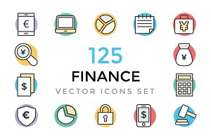 125 Finance Vector Icons