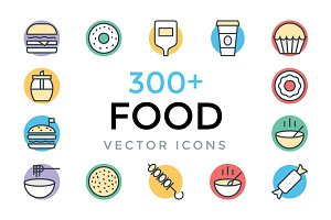 300+ Food Vector Icons