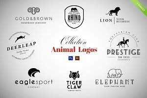 8 Animal Logos Set + Cool Bonuses