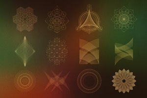 24 Geometric Shapes - Lines (v.2)