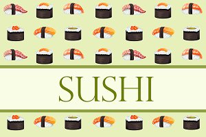 Japanese food - sushi and rolls