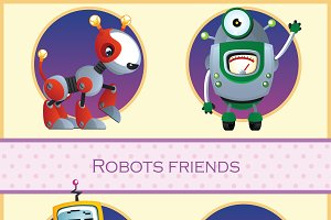 Robots friend, 10 cartoon character
