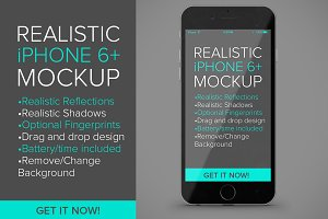 Realistic iPhone 6+ Mockup