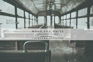 Wood & White Photoshop Action