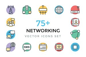 75+ Networking Vector Icons
