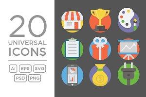 20 Universal Icons