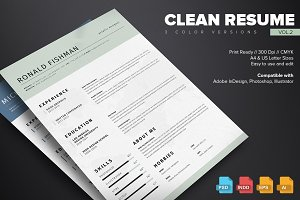 Clean Resume Template Vol.2