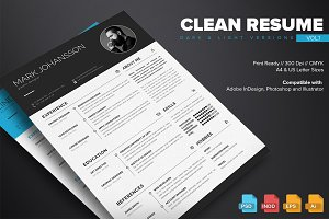 Clean Resume Template Vol.1