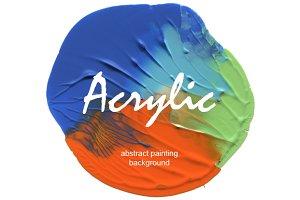 Circle acrylic painting