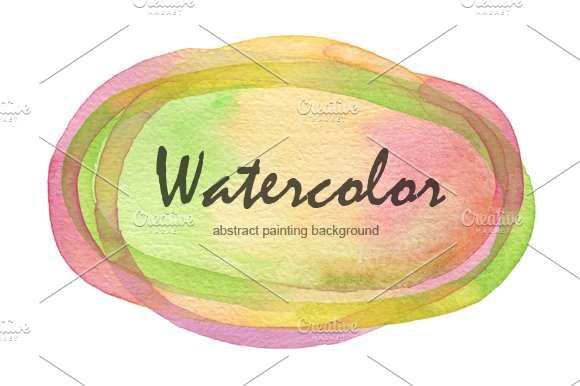 watercolor painted background
