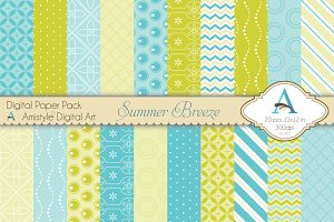Summer Breeze Digital Paper Set