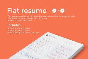 Flat resume - CV