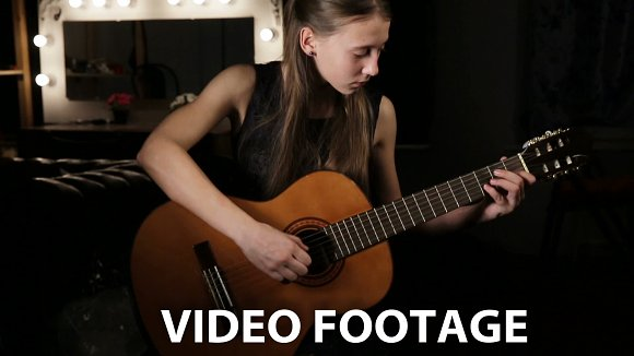 Girl playing the guitar in Graphics