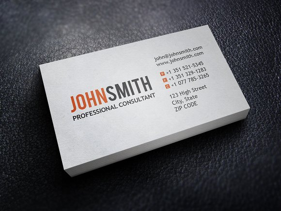 professional executive business card business card templates creative market - Professional Business Cards