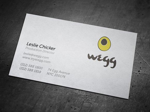 Yellow Wegg Business Card