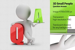 3D Small People - Question Answer