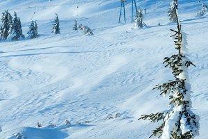 winter mountain view
