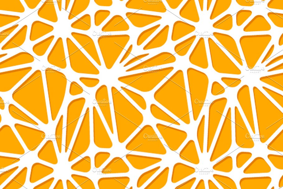 Abstract Orange Shapes On White