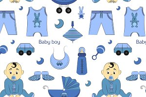 Baby boy design pattern
