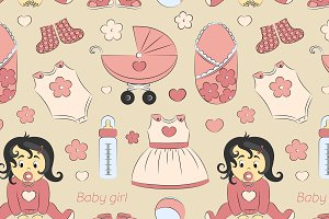 Baby girl design pattern