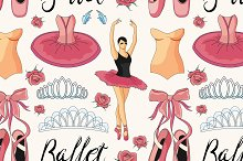 Ballet colorful pattern