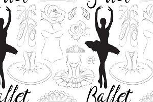 Hand drawn Ballet pattern
