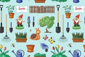 Gardening colorful pattern