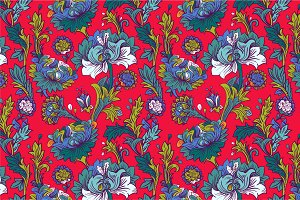 5 Flowers Seamless Patterns