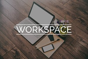 3 photos of Workspace with Laptop
