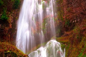 Waterfall with intense colors IV