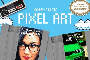 Pixel Art - One Click Actions
