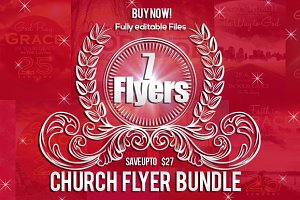 6 Jesus Church Flyer Bundle
