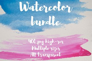 400 Watercolor png textures