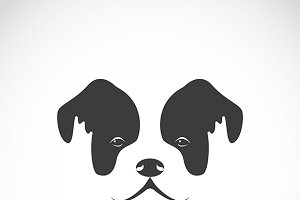 Vector image of an dog face