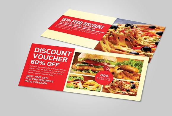 Food Gift Voucher Template Card Templates on Creative Market – Food Voucher Template